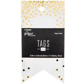 Gold Foil Confetti Tags