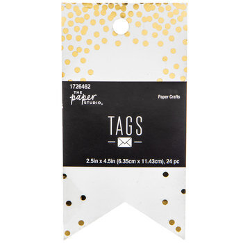 Gold Foil Confetti Tags