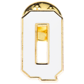 White Letter Metal Pin - Q