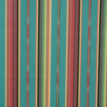 Multi-Color Striped Vinyl Fabric