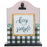 Keep It Simple Clipboard Wood Decor