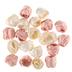Pink & White Rosette Embellishments