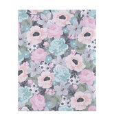 "Pink & Teal Floral Scrapbook Paper - 8 1/2"" x 11"""