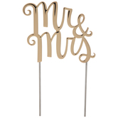 Gold Mr & Mrs Metal Cake Topper