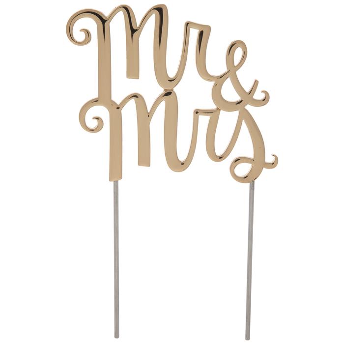 Gold Mr Mrs Metal Cake Topper Hobby Lobby 80843998