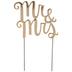 Gold Mr & Mrs Metal Cake Topper