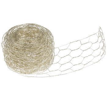 "Chicken Wire Metal Floral Ribbon - 2 1/4"""