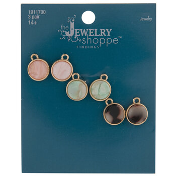 Round Acetate Earrings With Loops