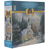 Thomas Kindkade Winter Church Puzzle