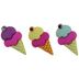 Ice Cream Cone Shank Buttons