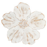 Distressed White Flower Wall Decor