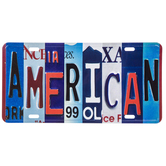 American License Plate Metal Sign