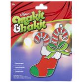 Christmas Makit & Bakit Stocking Ornament Kit