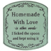 Homemade With Love Metal Sign