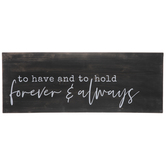 Forever & Always Wood Wall Decor
