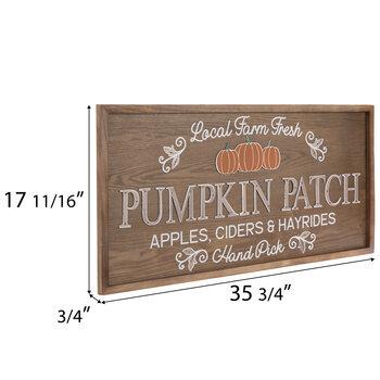Brown Pumpkin Patch Wood Wall Decor