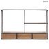 Brown Wood Wall Organizer With Drawers