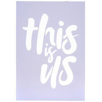 This Is Us Stencil