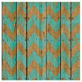 "Turquoise Chevron Wood Fence Scrapbook Paper - 12"" x 12"""