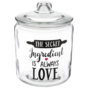 The Secret Ingredient Glass Canister