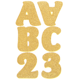 Gold Glitter Letter & Number Stickers