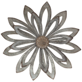 Rustic Flower Metal Wall Decor