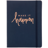 Navy Make It Happen Bullet Journal