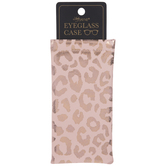 Blush Metallic Leopard Print Eyeglass Case