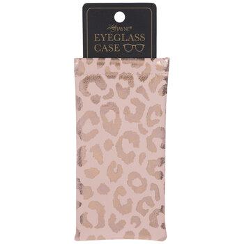 Blush Metallic Leopard Print Eyeglass Case
