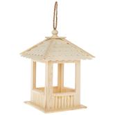 Gazebo Wood Bird Feeder