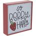 So Berry Happy Metal Decor