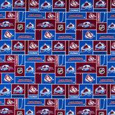 NHL Colorado Avalanche Block Cotton Fabric