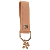Orange Faux Leather Keychain