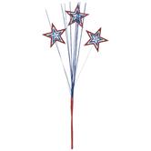 Red, Blue & Silver Glitter Star Sprays
