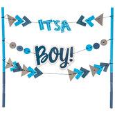 It's A Boy Cake Banner