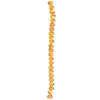 Orange AB Round Gemcut Bead Strand