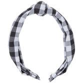Black & White Gingham Knot Headband