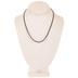 Black Leatherette Cord Necklaces - 17 1/2