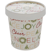 Christmas Words Paper Snack Cups - Large