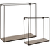 Black Wire Wood Wall Shelf Set