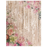 "Country Floral Scrapbook Paper - 8 1/2"" x 11"""