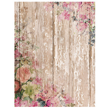 """Country Floral Scrapbook Paper - 8 1/2"""" x 11"""""""