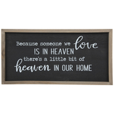 Heaven In Our Home Wood Wall Decor