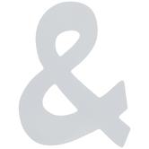 White Symbol Wood Wall Decor - Ampersand