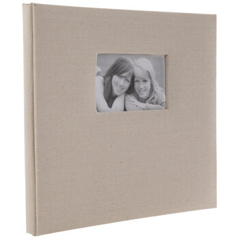 "Cream Linen Post Bound Scrapbook Album - 12"" x 12"""