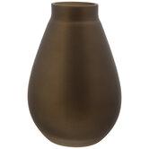 Matte Bronze Round Glass Vase