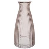 Blush Ridged Glass Vase