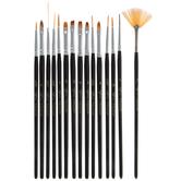 Detail Paint Brushes - 15 Piece Set