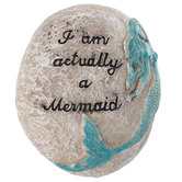 Actually A Mermaid Garden Stone