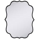 Black Quatrefoil Metal Wall Mirror